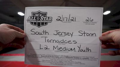South Jersey Storm - Tornadoes [L2 Youth - Medium] 2021 NCA All-Star Virtual National Championship