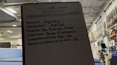 Arizona Fusion Cheer - Blue Monsoon [L3 Senior - D2 - Small] 2021 Varsity All Star Winter Virtual Competition Series: Event III