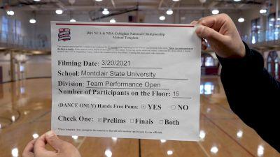 Montclair State University [Virtual Team Performance Open Prelims] 2021 NCA & NDA Collegiate Cheer & Dance Championship