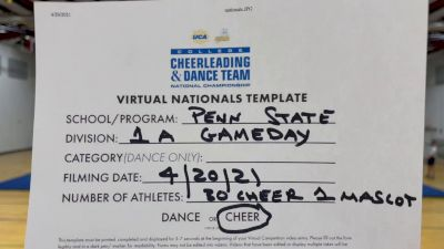 Pennsylvania State-University Park [Virtual Division IA Game Day - Cheer Finals] 2021 UCA & UDA College Cheerleading & Dance Team National Championship