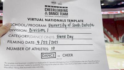 University of South Dakota [Virtual Division I Game Day - Dance Finals] 2021 UCA & UDA College Cheerleading & Dance Team National Championship