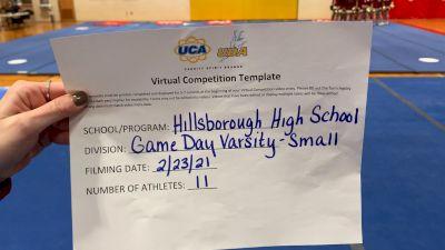 Hillsborough High School [Game Day Small Varsity] 2021 UCA February Virtual Challenge