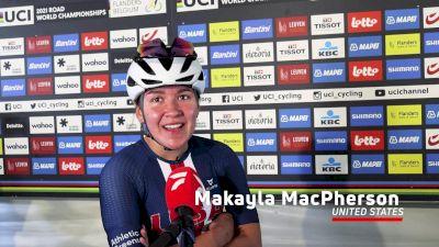 Makayla MacPherson Beaming After U.S. Junior Women's Success In Road Race