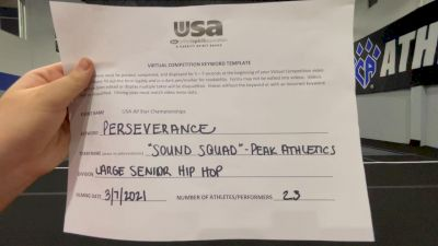 Peak Athletics - Sound Squad [Senior - Hip Hop] 2021 USA All Star Virtual Championships