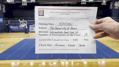 University of Akron [Virtual Intermediate Small Coed Division IA Prelims] 2021 NCA & NDA Collegiate Cheer & Dance Championship