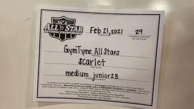 Gym Tyme - Scarlet [L2 Junior - Medium - B] 2021 NCA All-Star Virtual National Championship