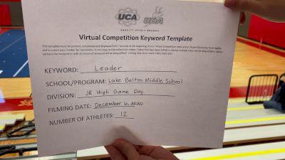 Lake Belton Middle School [Game Day Cheer Junior HighMiddle School] 2020 UCA Southwest Virtual Regional