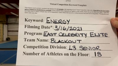 East Celebrity Elite - Londonderry Blackout [L3 Senior - Small] 2021 Beast of The East Virtual Championship