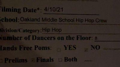 Oakland Middle School Hip Hop Crew [Virtual Jr. High/Middle School - Hip Hop Finals] 2021 NDA High School National Championship