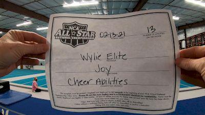 Wylie Elite - JOY [L1 - CheerABILITIES - Novice] 2021 NCA All-Star Virtual National Championship