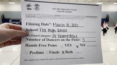 Fox High School [Virtual Prelims] 2021 NDA High School National Championship