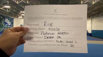 Platinum Athletics - Dream PAC [L1 Youth] 2021 The Regional Summit Virtual Championships