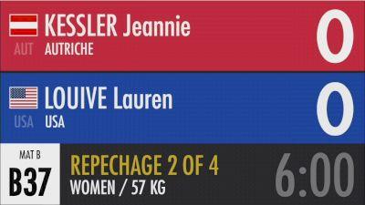 57 kg Repechage - Lauren Louive, USA vs Jeannie Kessler, Austria