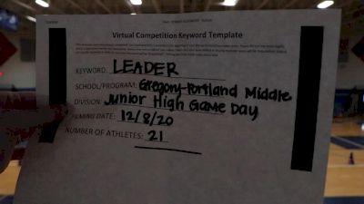 Gregory-Portland Middle School [Game Day JH] 2020 UCA Southwest Virtual Regional