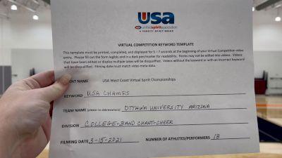 Ottawa University Arizona [College -- Band Chant -- Cheer] 2021 USA Virtual West Coast Spirit Championships