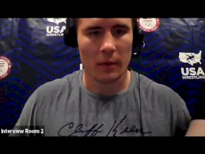 Adam Coon (130 kg) after semifinal win at 2021 Olympic Trials