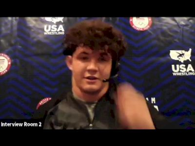 Cohlton Schultz (130 kg) after semifinal win at 2021 Olympic Trials
