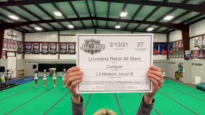 Louisiana Rebel All Stars - Conquer [L3 Junior - Medium - B] 2021 NCA All-Star Virtual National Championship
