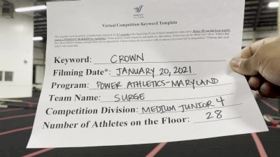 Power Athletics - Surge [L4 Junior - Medium] 2021 Spirit Unlimited: Virtual Battle at the Boardwalk
