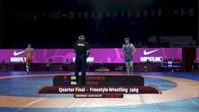 74 kg Quarterfinal - Miroslav KIROV (BUL) vs Mitchell FINESILVER (ISR)