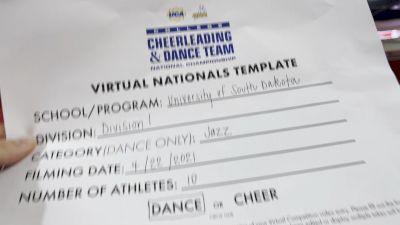 University of South Dakota [Division I Jazz Virtual Finals] 2021 UCA & UDA College Cheerleading & Dance Team National Championship