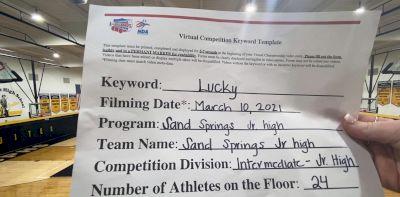 Sand Springs Junior High - TEAM [Intermediate JH/MS] 2021 NCA & NDA Virtual March Championship