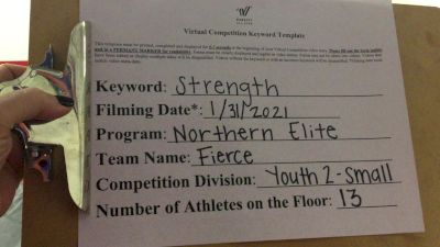 Northern Elite - Fierce [L2 Youth - Small] 2021 Varsity All Star Winter Virtual Competition Series: Event II