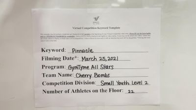 GymTyme All-Stars - Cherry Bombs [L2 Youth - Small] 2021 The Regional Summit Virtual Championships