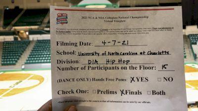 UNC Charlotte [Virtual Division 1A - Hip Hop Finals] 2021 NCA & NDA Collegiate Cheer & Dance Championship