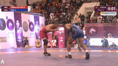 86 kg J. COX (USA) vs P. CEBALLOS FUE (VEN)