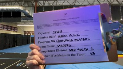The California All Stars - Majors [L2 Youth - Medium] 2021 PacWest Virtual Championship