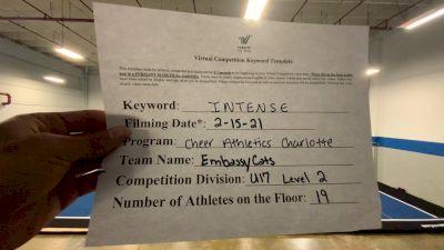 Cheer Athletics - EmbassyCats [L2 - U17] 2021 Coastal at the Capitol Virtual National Championship