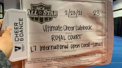Ultimate Cheer Lubbock - Royal Court [L7 International Open Coed - Small] 2021 NCA All-Star Virtual National Championship