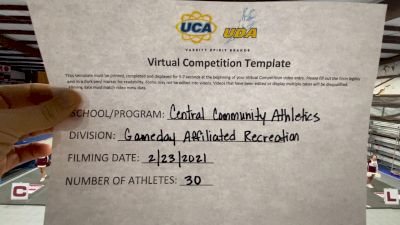 Central Community Athletics [Game Day - Recreational] 2021 UCA February Virtual Challenge
