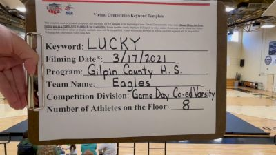 Gilpin County High School - Eagles [Game Day Coed Varsity] 2021 NCA & NDA Virtual March Championship