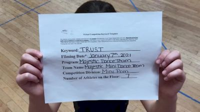 Majestic Dance Team [Mini - Pom] 2021 NCA & NDA Virtual January Championship