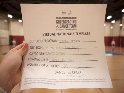 University of Massachusetts Amherst [All Girl Division IA Game Day - Cheer] 2021 UCA & UDA College Cheerleading & Dance Team National Championship