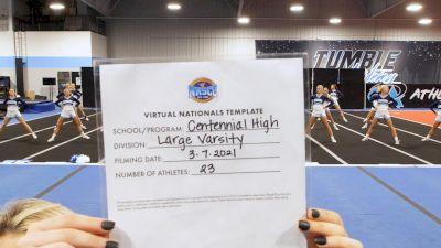 Centennial High School [Large Varsity Virtual Semi Finals] 2021 UCA National High School Cheerleading Championship