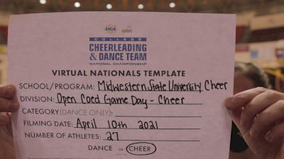 Midwestern State University [Virtual Open Coed Game Day - Cheer Semi Finals] 2021 UCA & UDA College Cheerleading & Dance Team National Championship