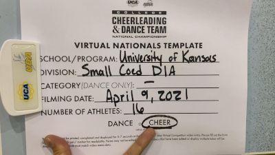 University of Kansas [Virtual Small Coed Division IA Semi Finals] 2021 UCA & UDA College Cheerleading & Dance Team National Championship