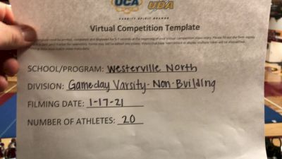Westerville North JV High School [Game Day Varsity Non-Building] 2021 UCA January Virtual Challenge