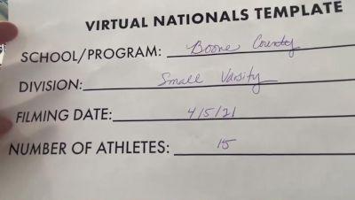 Boone County High School [Small Varsity Virtual Finals] 2021 UCA National High School Cheerleading Championship