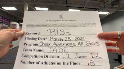 Cheer Advantage All Stars - Jade [L2 Junior - D2 - Small] 2021 The Regional Summit Virtual Championships