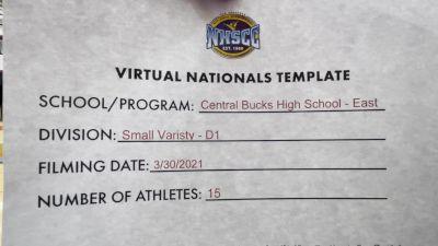 Central Bucks High School-East [Small Varsity Division I Virtual Finals] 2021 UCA National High School Cheerleading Championship