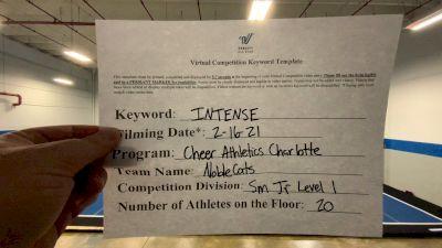 Cheer Athletics - NobleCats [L1 Junior - Small] 2021 Coastal at the Capitol Virtual National Championship