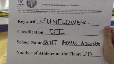 St Thomas Aquinas High School [Division II Dance] 2020 KSHSAA Game Day Spirit Virtual Showcase