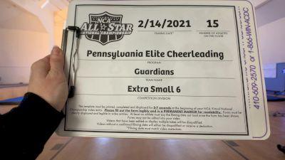 Pennsylvania Elite Cheerleading - Guardians [L6 Senior - Xsmall] 2021 NCA All-Star Virtual National Championship