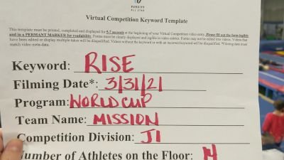 World Cup - MISSION [L1 Junior - Small] 2021 The Regional Summit Virtual Championships