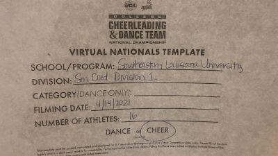 Southeastern Louisiana University [Small Coed Division I Virtual Semi Finals] 2021 UCA & UDA College Cheerleading & Dance Team National Championship