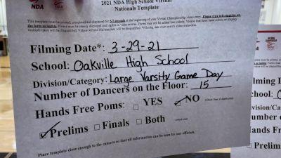Oakville High School [Virtual Varsity - Game Day - Large Prelims] 2021 NDA High School National Championship